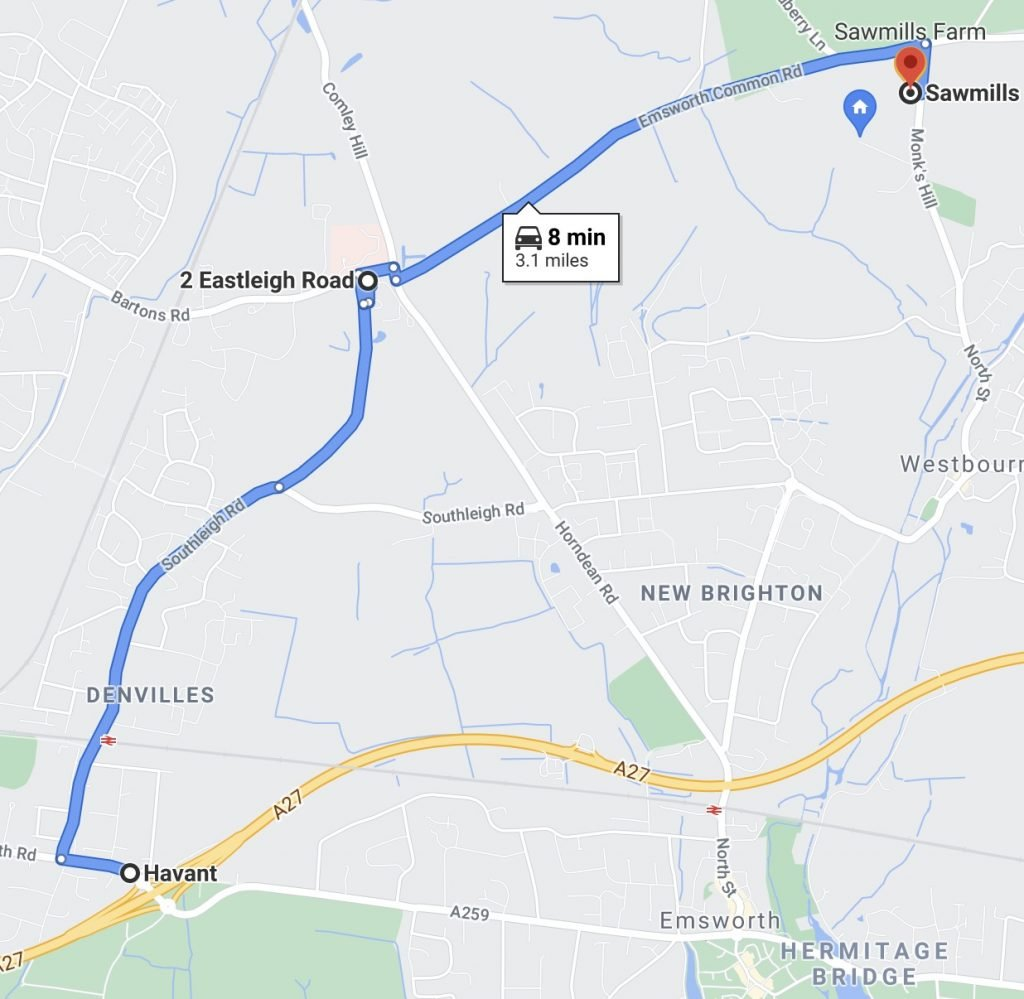 Directions to Sawmills Farm